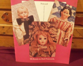 1985 Helen Nolan Antique Doll Photo Postcards In Full Color Dover Publications