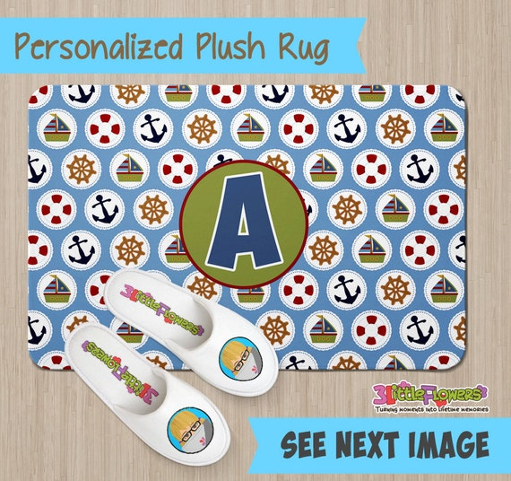 Personalized Nautical Rug