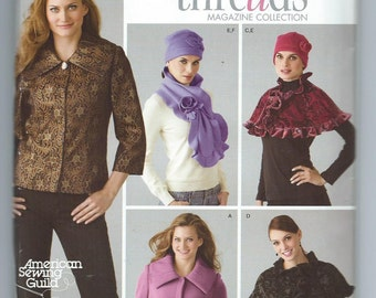 Simplicity 4026 Misses' Jacket, Capelet, Scarf and Hat - Size 6-8-10-12-14 - Uncut Pattern