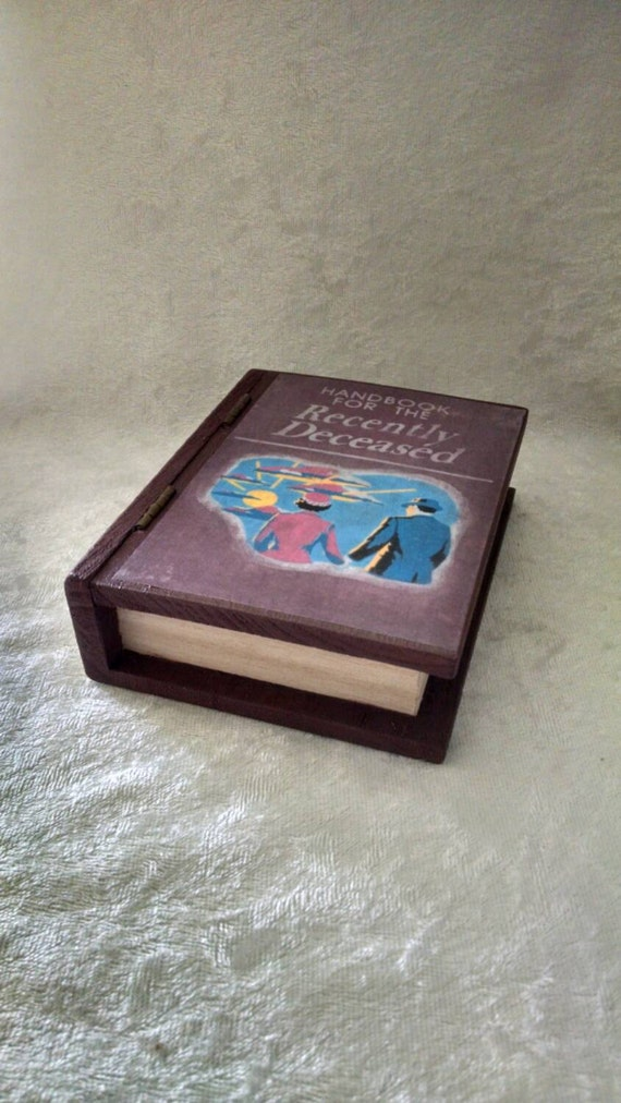 mini handbook for the recently deceased book jewelry box