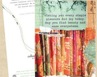 Mixed media collage card-Beauty and Ease