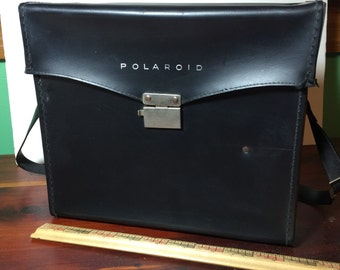 Vintage Leather Polaroid Camera Bag
