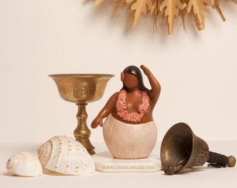Hina - Polynesian Moon Goddess Statue Fertility Goddess Doula Midwife Gift Mother Earth Gaia Sculpture