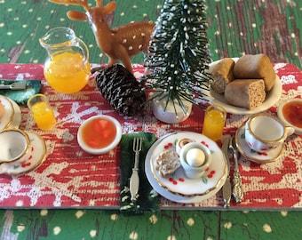 Christmas Lodge Breakfast Prep Board-1:12 Scale