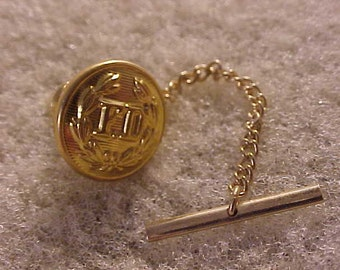 Vintage Fire Department Uniform Button Tie Tack