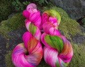 Handpainted sock yarn, fingering yarn, Superwash Merino yarn nylon 100 grams-La Cenerentola