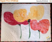 Black History Sale Give Yourself Big Flowers 26 x 20 inch quilted wallhanging