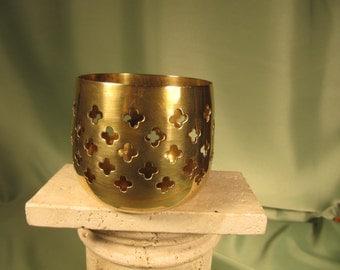BRASS VOTIVE HOLDER, Solid Brass made in India Antique Votive Holder,has label made in India solid brass, Brass votive holder, Votive Holder