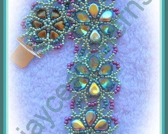 Beading Tutorial - Flores Bracelet - Netting stitch