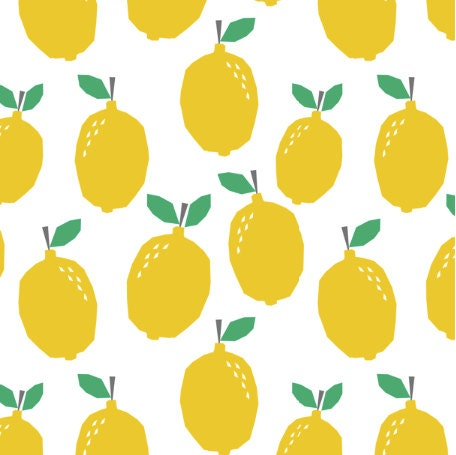 yellow fruit fruit fabric