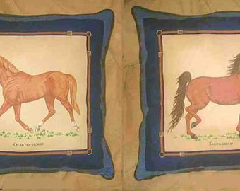 Final Markdown Sale...SADDLEBRED/QUARTER HORSE w/piping Horse Pillow...Price Reduced