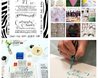 Gift Card for One Student to Join A Small Group Beginners Calligraphy Class with Lettering By Liz - NEW YORK CITY