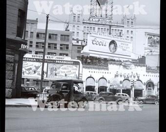 1945 Denver Colorado Reprint Photo Conoco Police Truck Boggio's Paramount Coors