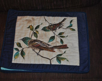 Small Wall Quilt of Birds on Tree #4