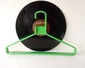 Holiday Sale Vintage Mod Retro Green Chunky Clothes Hanger Clothing Display Plastic Hanger Storage Closet Organizer
