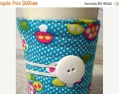 Winter Clearance Coffee cozy / coffee cup sleeve, quilted reusable fabric coffee cup sleeve: mushroom