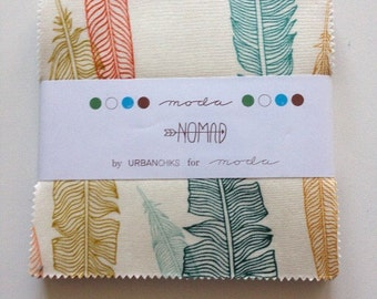 CLEARENCE. Nomad 5 X 5 ins charm pack by Urbanchiks for Moda