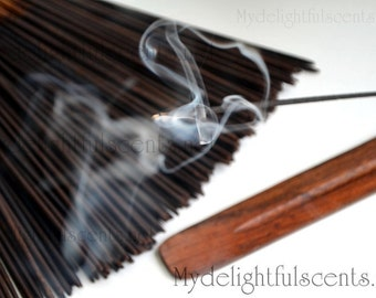 Cedar wood Vanilla Incense sticks 20 pack Hand dipped, Air dried