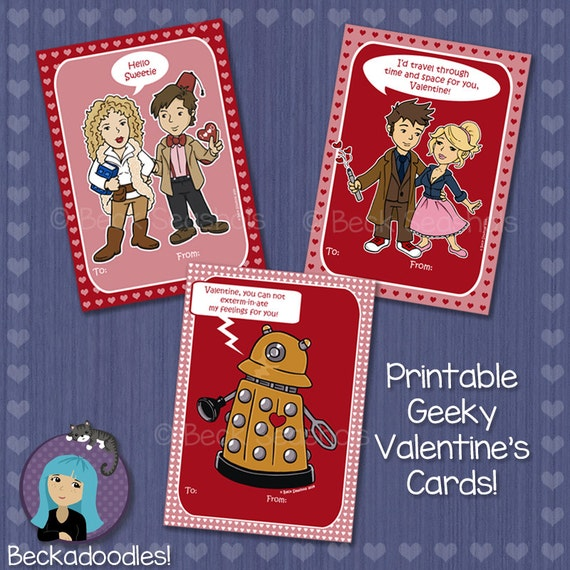 printable doctor who valentines day card