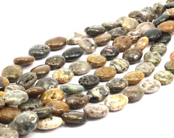 Mass Agate 15x12mm Oval Gemstone Beads full strand 15.5 inches G345
