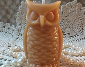 Beeswax Candle Small Stylized Shaped Owl Candle