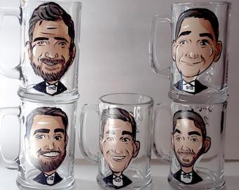 5pc, Groomsmen Mug, Groomsmen Gift Ideas, Best Man Mug, Wedding favors, Best Man Gift Idea, Groomsmen Giveaways, Groomsman gift, Groomsman