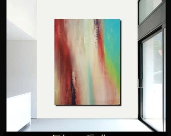 58x44 Ex large original modern abstract painting by Elsisy, US artist