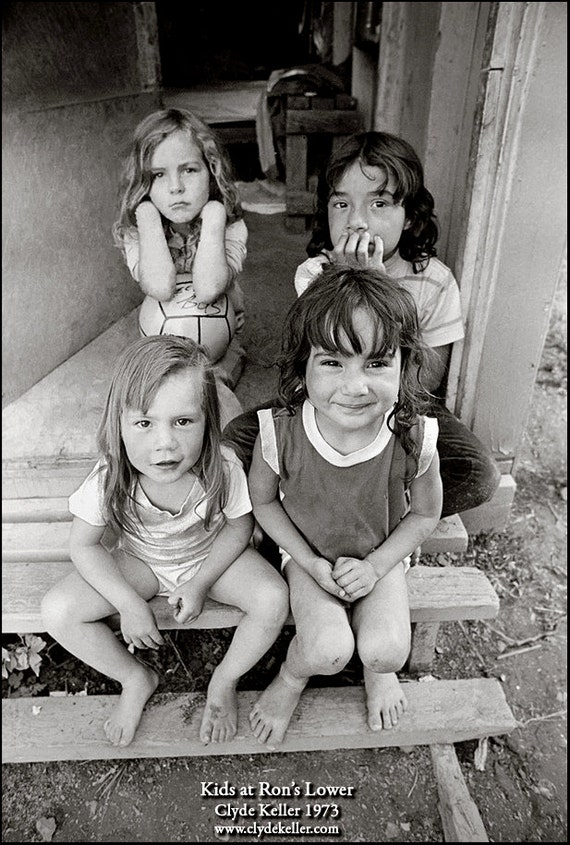 KIDS At RON'S LOWER, Washington County, Clyde Keller photo, 1973, Fine Art Print, Black and White, Signed