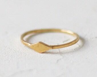 14k Gold Rhombus Ring, Engagement Ring, Wedding Gold Ring , Anniversary Ring , Unique Engagement Ring , Alternative
