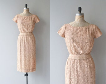 Soft Spoken dress | 1950s lace dress | vintage 50s cocktail dress