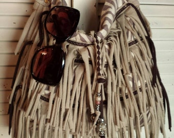 Jungle Fever Fringe Shoulder Bag