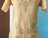 Summer Sale Jazz Age Summer - 1920's Cotton Lawn Embroidered Summer Dress