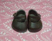 1950's Signed Pair of  Brown  Vogue Ginny Doll shoes