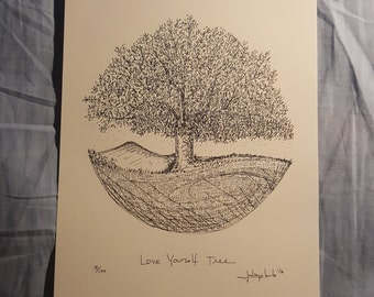 Love Yourself Tree 5/100 from series.