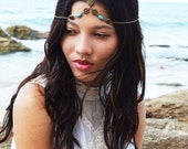 CLEARANCE SALE Chain Headpiece Boho Head Jewelry Bohemian Headband Headdress Gypsy Jewelry Chic Bohemian  Hair Jewelry FPCOHPMilena