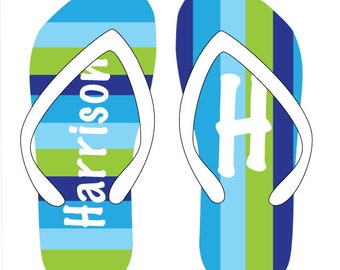 OCEAN personalized flip flops in adult and kid sizes