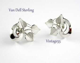 Earrings Sterling Van Dell Screw Back