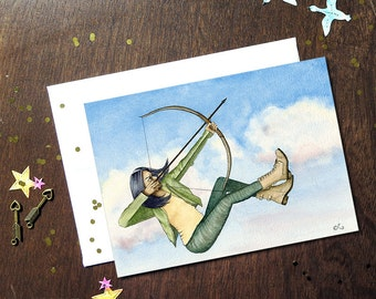 Brave Woman Card, Supportive Card, Courage Greeting Card, Career Change Card, Archer Girl, Strong Women, Aim High, Moral Support Card