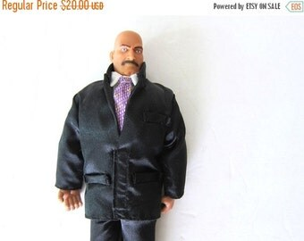 vintage Jesse Ventura Man of Action Doll in Black Suit with Box Minnesota Governor WWF Wrestler Wrestling Doll