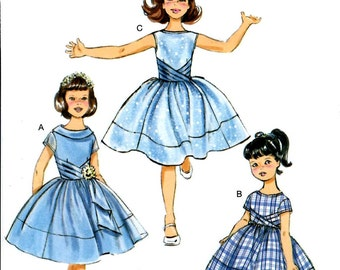 GIRLS DRESS PATTERN / Party - Fancy Dress / Sizes 2-5 or 6-8 / Special Occasion