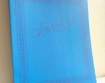 Large Bright Blue Indigo Photo Album Scrap Book for Photographs New Old Stock 100 Pages
