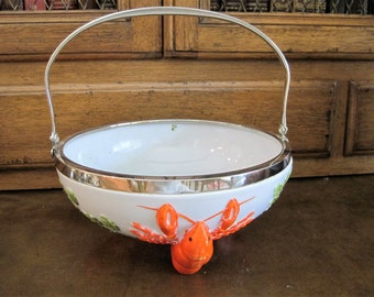Vintage Mustercrust Lobster Footed Bowl