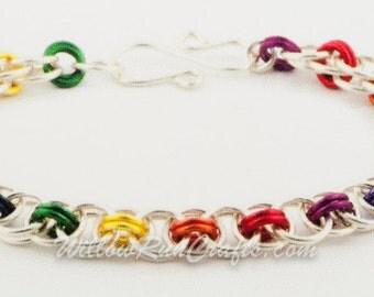 Helm Bracelet Chain Maille Kit-Rainbow Chain Maille Bracelet Kit