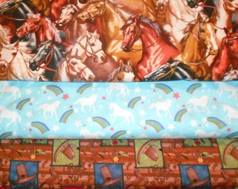 HORSE #4  Fabrics, Sold INDIVIDUALLY not as a group, by the Half Yard