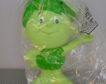 Sprout Green Giant Vinyl Doll 7 Inch Sealed 1996 Advertising Promo Rubber Doll Toy Original