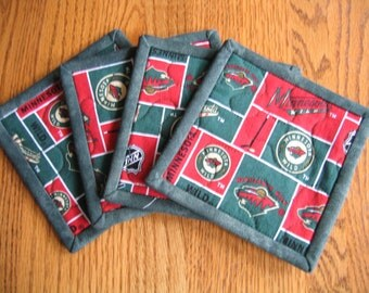 The Wild Quilted Coasters - Set of 4