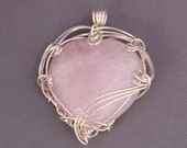 Wire-wrapped Rose Quartz ...