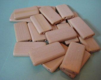 20 Bamboo Tiles in Natural for your Crafts & Hobbies