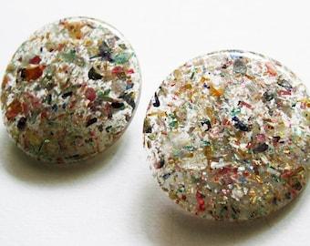 Vintage  Lucite Confetti Buttons