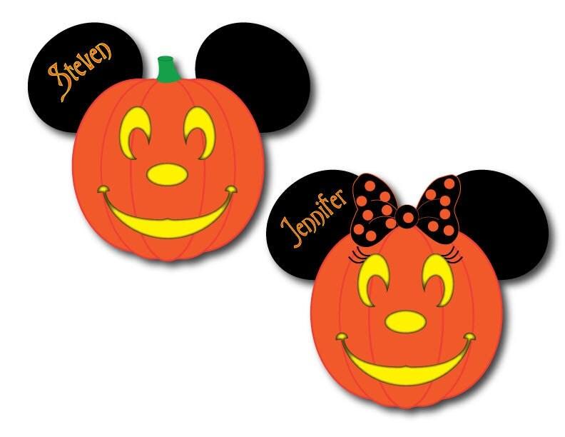 Decorating Ideas > Disney Inspired Halloween Family Pumpkin Magnet Set For Disney ~ 015650_Halloween Door Magnets
